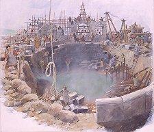 строительство бани в римской Британии